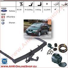 Gancio traino fisso Ford Galaxy 1995-2000 + kit elettrico 13-poli OMOLOGAZIONE