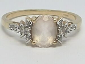 9ct Yellow Gold Ladies Ring With Stone Size: P½  049600079593