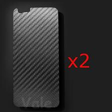 "Lot 3D Transparent Carbon Fiber Back Screen Protector Film For iPhone 6 4.7"""
