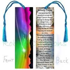 SERENITY PRAYER LARGE BOOKMARK Tassel Long Version Poem Religious ART-Card Book