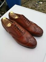 Mens MEERMIN 100% Leather, Brown Lace-up Wing Tip Brogues UK 10.5 (44.5).