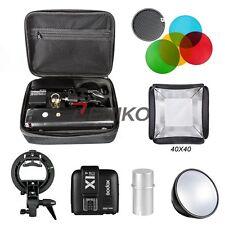 Godox 2.4 TTL HSS Two Heads AD200 200w Flash+ X1T-C Trigger 40x40 Softbox Kits