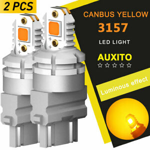 3057 3157 4157 Yellow Amber Turn Signal LED Light Bulb 3757 Canbus For GMC Chevy
