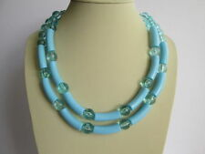 Turquoise Plastic Statement Costume Necklaces & Pendants