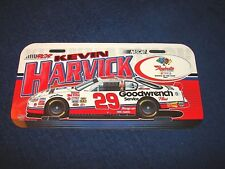 NEW NOS PLASTIC NASCAR LICENSE PLATE KEVIN HARVICK #29 WHITE CHEVROLET (M18-1)