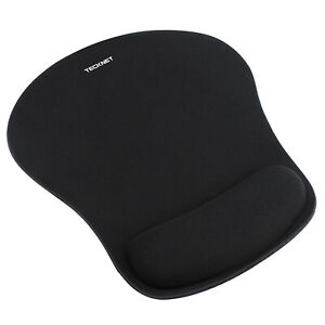 TECKNET Mouse Pad Mat With Gel Wrist Support Anti-Slip Rubber Base For PC Laptop