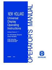 NEW HOLLAND NH UNIVERSAL DISPLAY OPERATING INSTRUCTION SOFTWARE VER. 8 OPERATOR`