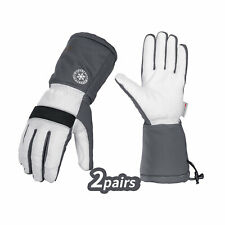 Vgo 12 Pairs 23 Above 3m Lined Leather Skiing Amp Winter Work Gloves Ga8435fw