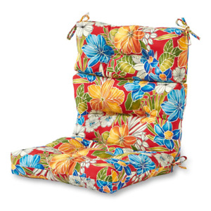 Greendale Dining Chair Cushion 22 in. UV Protectant Water Resistant Reversible