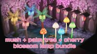 Animal crossing: Mush lamp + Cherry blossom Lantern + Palm Tree Lamp