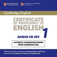 Cambridge Certificate of Proficiency in English 1 Audio CD Set (2 CDs): Examinat