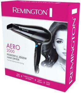New Remington Aero 2000 Poweful Hair Dryer Styling Blower D3190AU 3 Heat 2 Speed