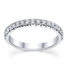 1/4ct Round Diamond Micro Pave Half Eternity Ring in White Gold