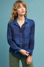 New Anthropologie Cloth & Stone Pocket Plaid Shirt Size XL with Tags