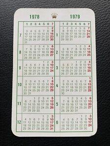 Original ROLEX Vintage Kalender Calendar 1978 / 1979