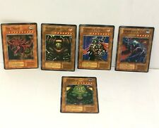5 YuGiOh Cards Foil Cards Sky Dragon Thunder God Lightning Fighter Vampire