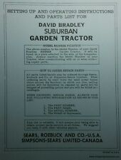 David Bradley Garden Tractor & Implements Owner & Parts Manuals (4 BOOKS) 64p db