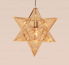 40cm Gold Star Aluminum Chandelier Ceiling Lighting Pendant Lamp Light Fixtures