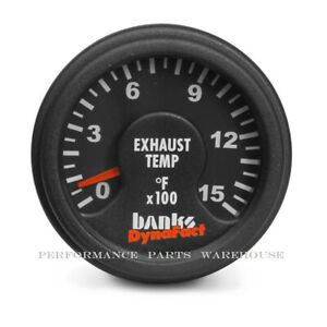 BANKS DYNAFACT 1500° PYROMETER GAUGE 10' LEAD - CHEVY FORD DODGE DIESEL