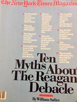 The New York Times Magazine Ronald Reagan Debacle March 22, 1987 042018nonrh