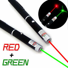 2Pc 20Miles Green&Red Aaa Laser Pointer Pen Single Beam Teaching Pet Toy Mini Us