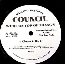 "PROMO COUNCIL WE'RE ON TOP OF THANGS 33RPM 12"" SINGLE 1998 RANCORE VG"