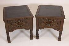 2 Mersman 58-22 Vintage Wood End Side Tables Mid Century Furniture Dark Finish