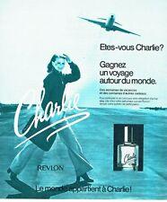 PUBLICITE ADVERTISING 0217  1978  parfum femme Charlie par Revlon