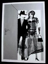 Lothar Fischer. Paar. signierte Farbserigraphie, 1968. SPUR signiert Siebdruck