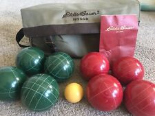 Eddie Bauer Competitive Bocce Ball Set with Bag