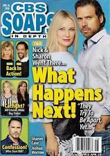 CBS Soaps In Depth Magazine - April 16, 2018 - Joshua Morrow & Sharon Case