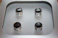 Set of 4 Audi Valve Caps for Aluminium Valves 4L0071215A New Genuine Audi part