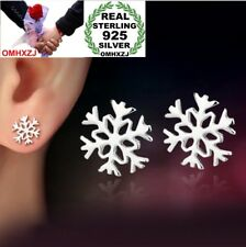 wholesale jewelry snow flowers sterling 925 silver girl Woman Stud earring YS50