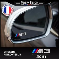 Kit 3 Stickers Retroviseur Voiture BMW M3 - Autocollant auto, retro ref1