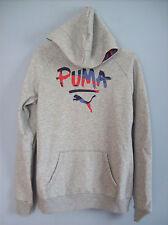 Hoodie ladies Puma Hoodied Sweatshirt  834325 Light Grey Heather UK Size 10 New
