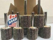 Box of 10-120 Grit 1 x 1 x 1//4 In Shank Flap Wheels KEEN Abrasives 23291