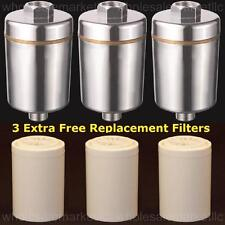 Bathroom Shower Filter w/ Carbon & KDF to Remove Chlorine + 3 Free Replacements