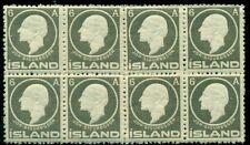 ICELAND #89 (111) 6aur Sigurdsson, Block of 8, og, NH, VF, Facit $348.00