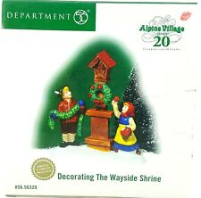 Dept 56 Alpine Village Decorating the Wayside Shrine 20th Limited 56320 New