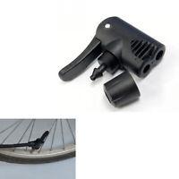 1Pcs Bicycle Track Pump Adapter Dual Head Valve For Presta Schrader Black