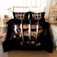 X-Men Origins: Wolverine Design Bedding Set Duvet Cover Pillowcase Double King