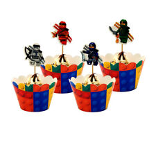 Ninjago Ninja Cupcake Theme Party 12pcs Cupcakes Paper Wrapper + 12pcs Topper