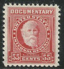 U.S. Revenue Documentary stamp scott r665 - 55 cent 1954 issue - mnh - #10