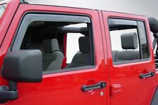 In-Channel Vent Visors for 2007 - 2018 Jeep Wrangler JK Unlimited