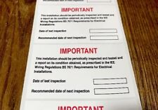 Next Inspection Periodic Test Labels/Stickers 95mmx60mm X 20