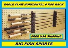EAGLE CLAW HORIZONTAL 6 ROD RACK Fishing Rod Holder FREE USA SHIPPING! #ARRH
