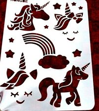 Unicorn Wall A4 Stencil Template Horses Magical Cute Rainbow Silhouette Reusable