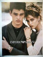 PUBLICITE-ADVERTISING :  EMPORIO ARMANI Couple 02  2016 Montres