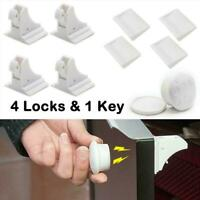 Invisible Child Safety Magnetic Lock Baby Pet Proof Door Cupboard Set T1Y5
