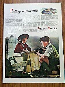 1944 GM General Motors Ad WW 2  1944 W. K. Kellogg's Ad Corn Flakes Ad